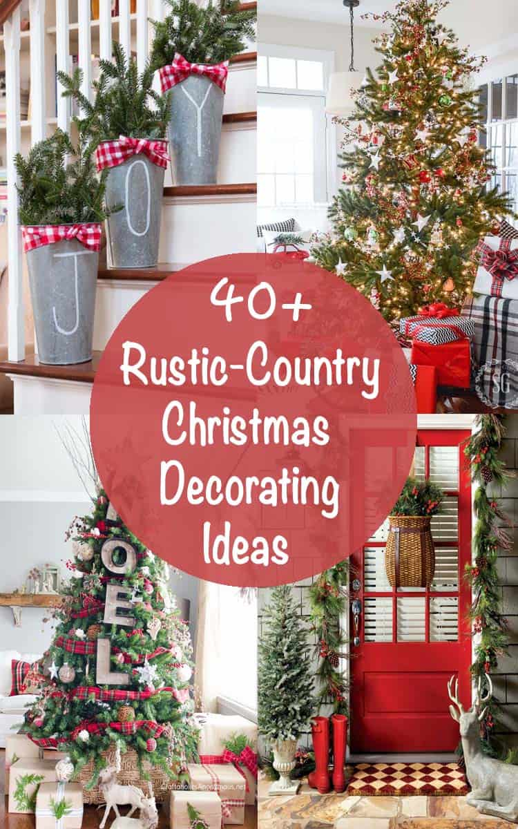 40 fabulous rustic country christmas decorating ideas - Country Christmas Tree Decorations