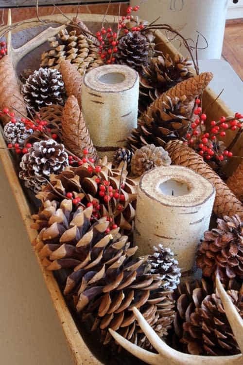 christmas decor ideas rustic country 06 1 kindesign - Simple Country Christmas Decorating Ideas