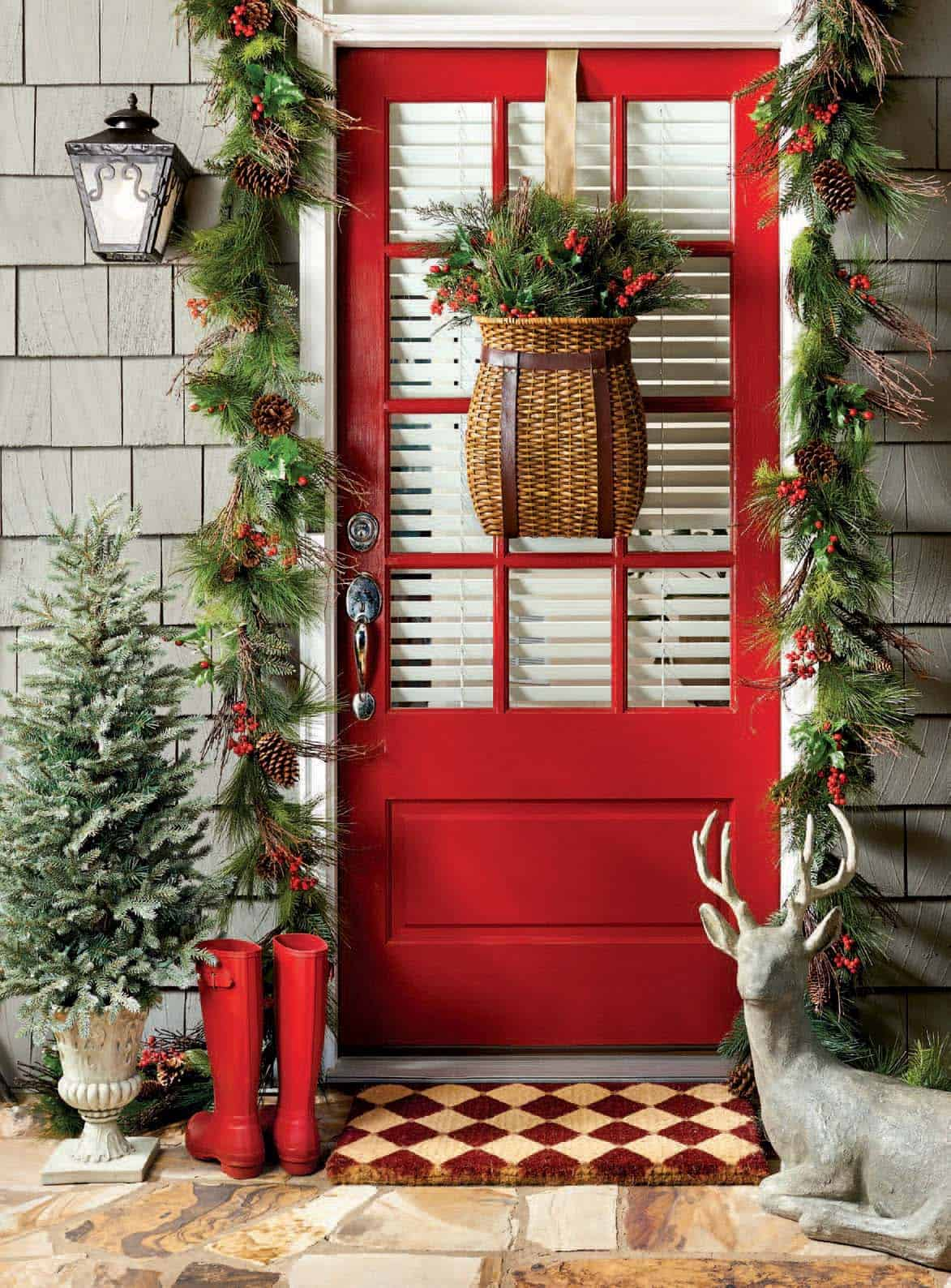 40 fabulous rustic country christmas decorating ideas for Christmas decorations