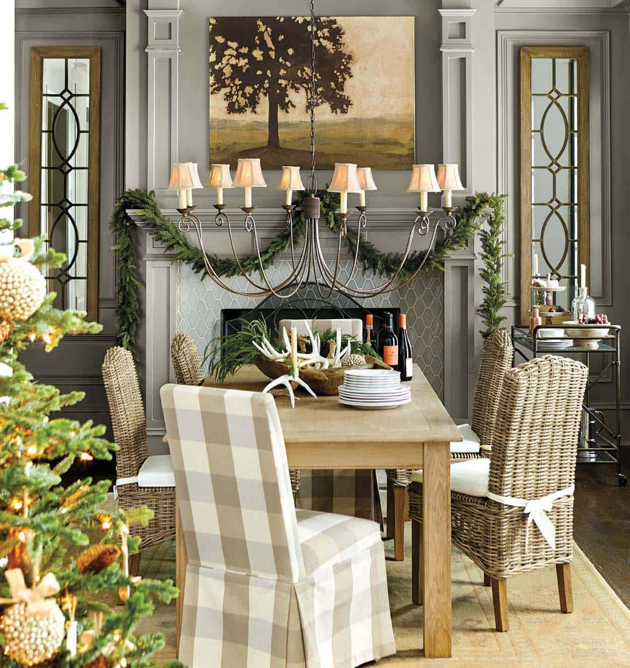 Christmas Decorations Holiday Decorations Decor: 40+ Fabulous Rustic-Country Christmas Decorating Ideas