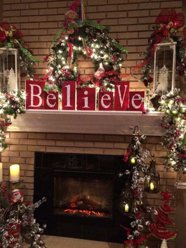 christmas decor ideas rustic country 23 1 kindesign - Country Christmas Mantel Decorating Ideas