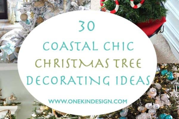 featured posts image for 30 Brilliant coastal chic Christmas tree decorating ideas