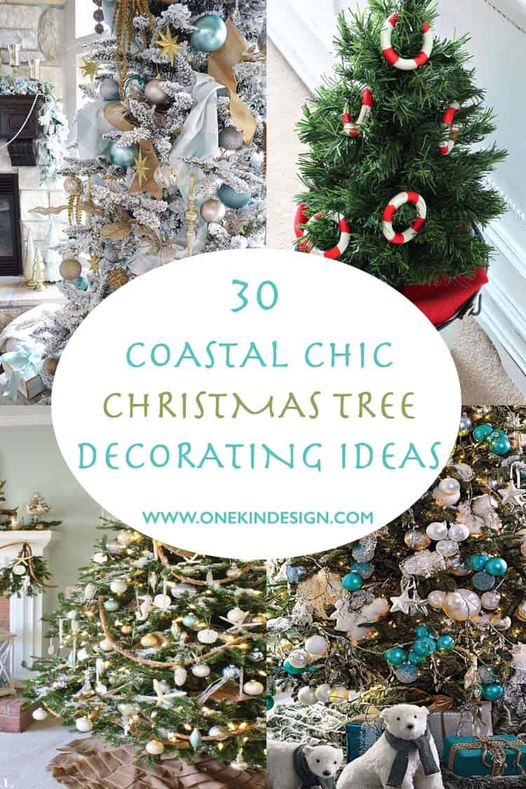 30 brilliant coastal chic christmas tree decorating ideas - Beach Christmas Decorations