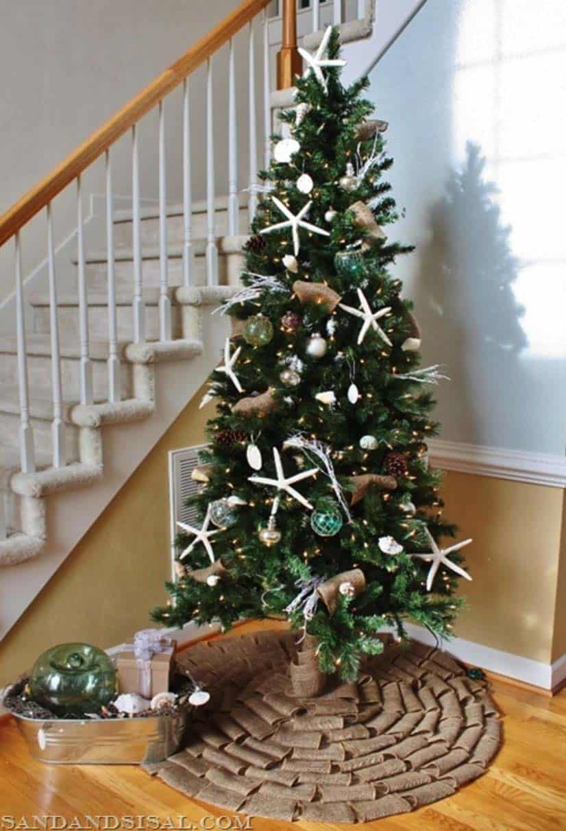 coastal christmas tree decorating ideas 16 1 kindesign