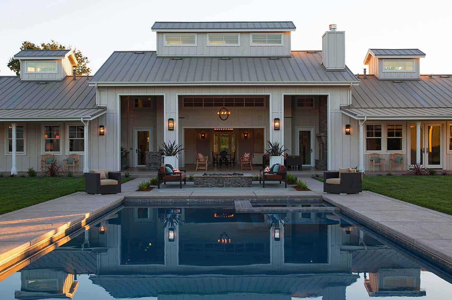 Gorgeous farmhouse retreat in napa valley wine country for Farm house plans with photos