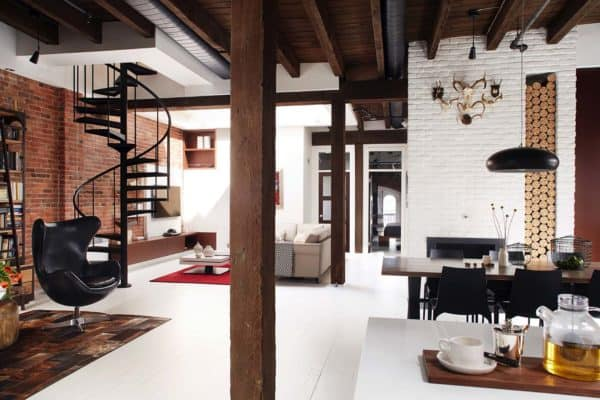 featured posts image for Masculine style loft with fresh design inspiration in Montreal