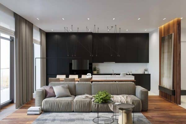 featured posts image for Modern bachelor pad with dramatic design features in Kiev