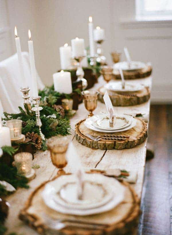 Natural Thanksgiving Table Decorating Ideas 02 1 Kindesign