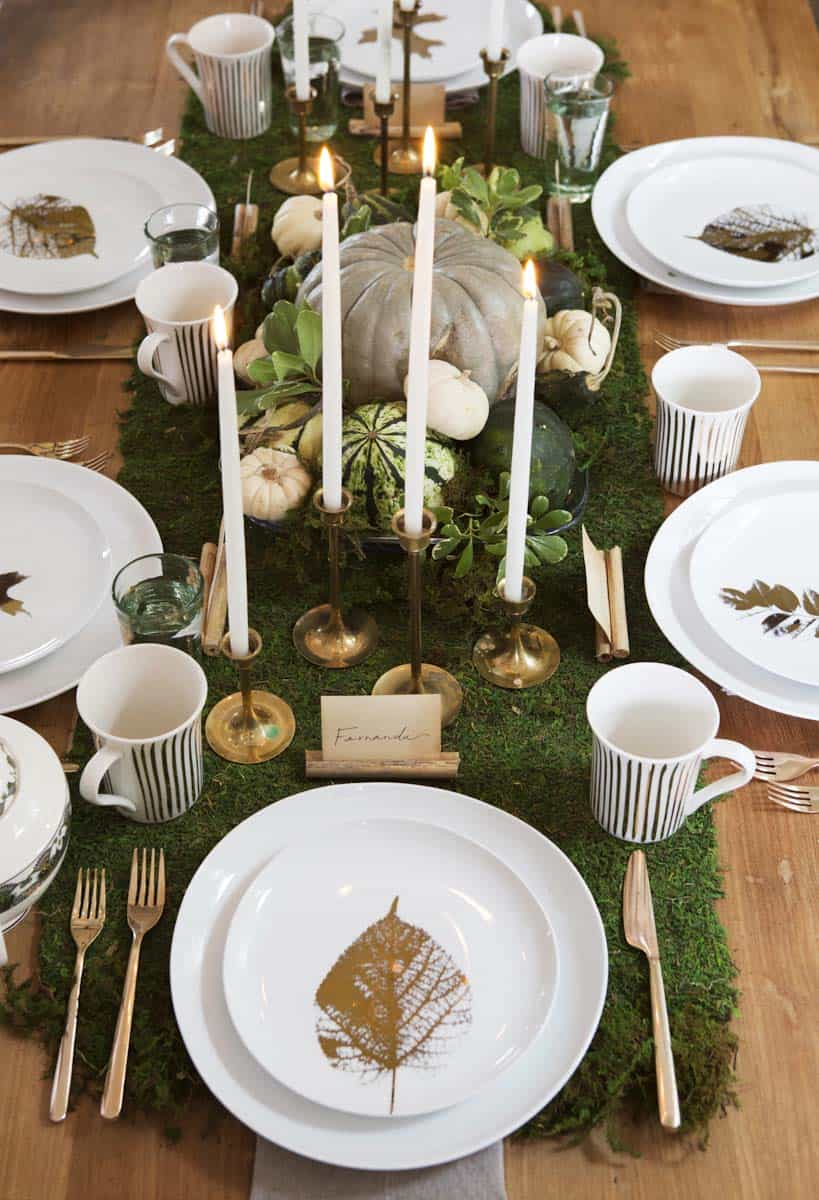 Thanksgiving tablescape decorating ideas with natural