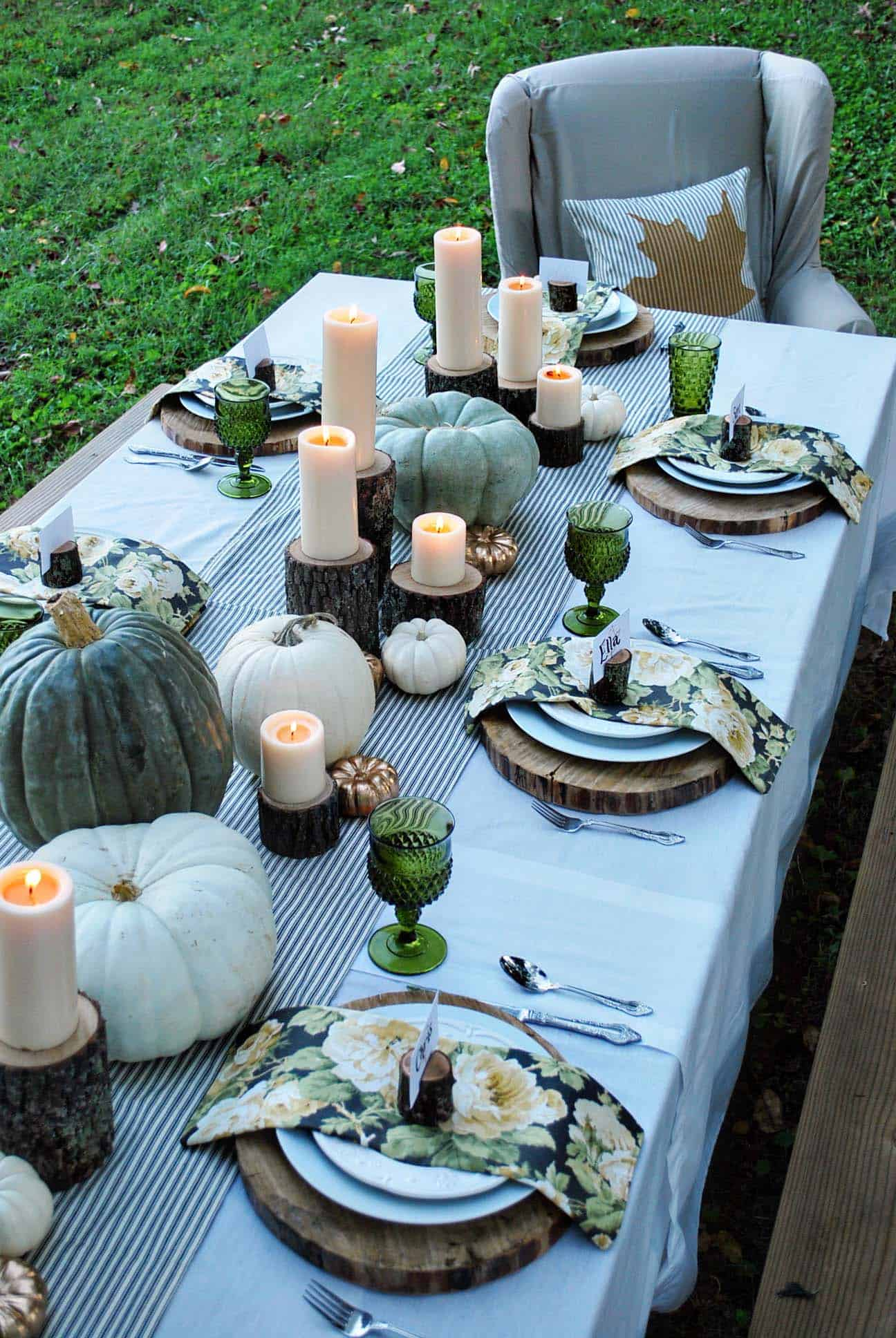 Natural Thanksgiving Table Decorating Ideas 19 1 Kindesign