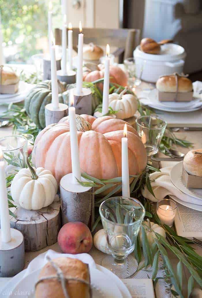 20 Thanksgiving Tablescape Decorating Ideas With Natural