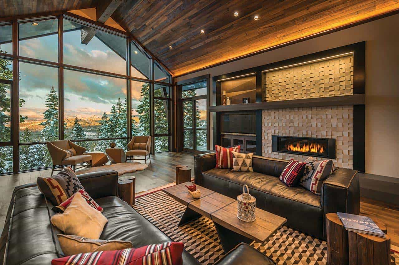 Exceptionnel Rustic Contemporary Ski Lodge Aspen Leaf Interiors 01