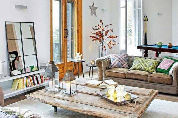 featured posts image for Retro-modern apartment decorated for Christmas in Barcelona