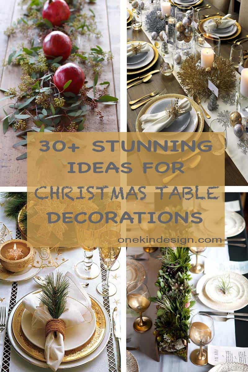 30 absolutely stunning ideas for christmas table decorations. Black Bedroom Furniture Sets. Home Design Ideas