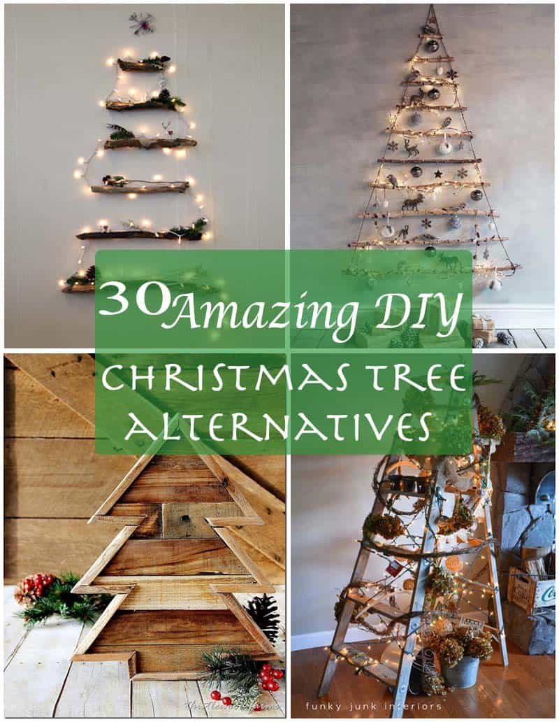 Christmas Tree Alternative.30 Amazingly Brilliant Diy Christmas Tree Alternatives