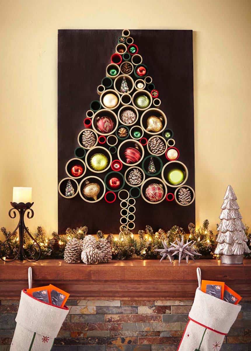 30 amazingly brilliant diy christmas tree alternatives. Black Bedroom Furniture Sets. Home Design Ideas
