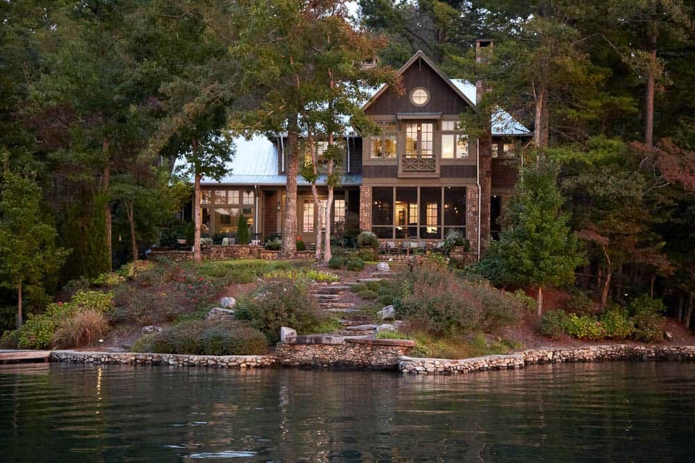Spectacular lake house peacefully nestled on lake burton for Lake house property