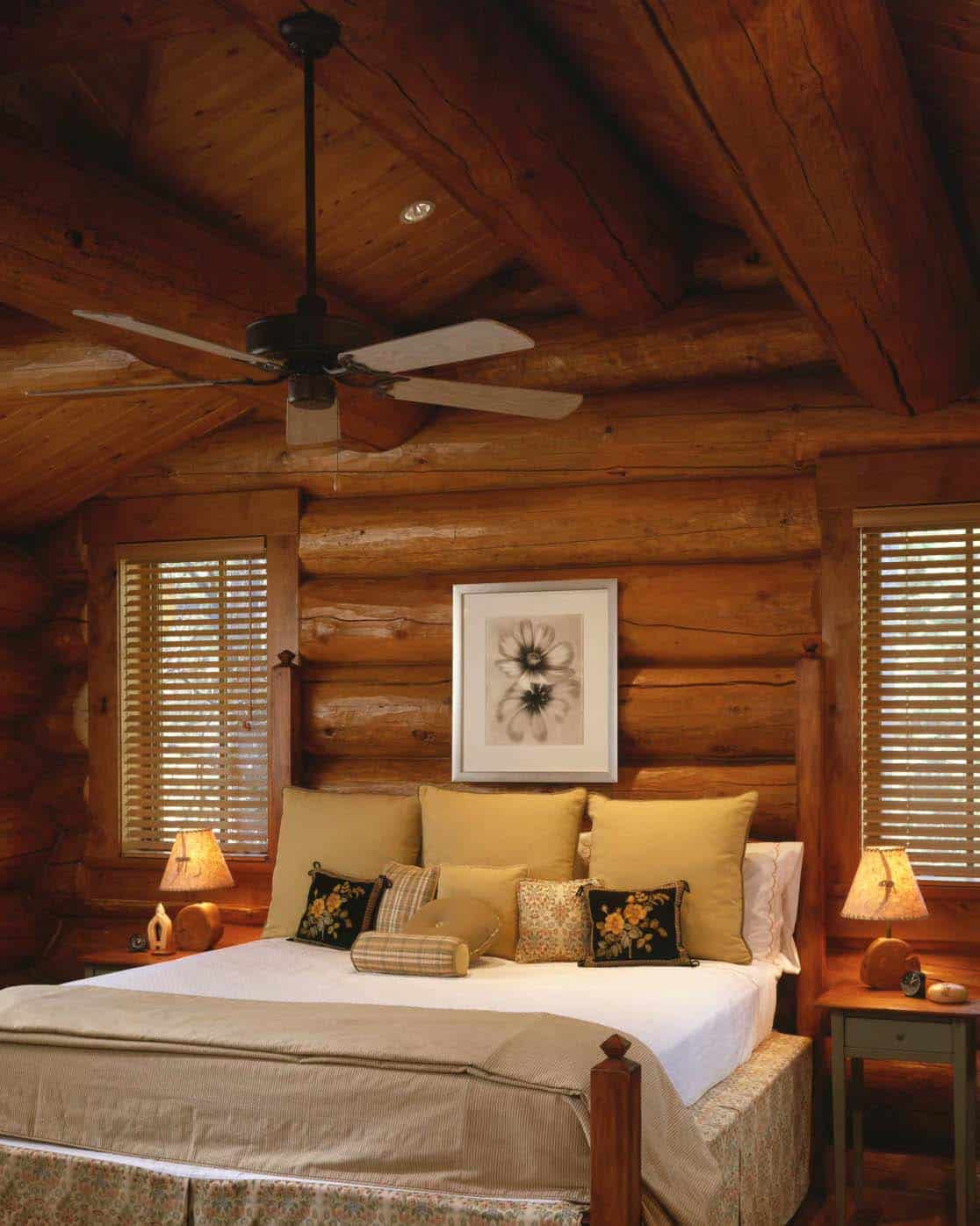 Log Cabin Bedrooms : Gorgeous log cabin style bedrooms to make you drool