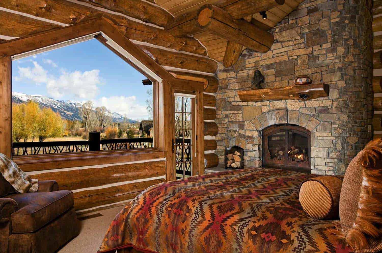 Log Cabin Style Bedrooms 05 1 Kindesign