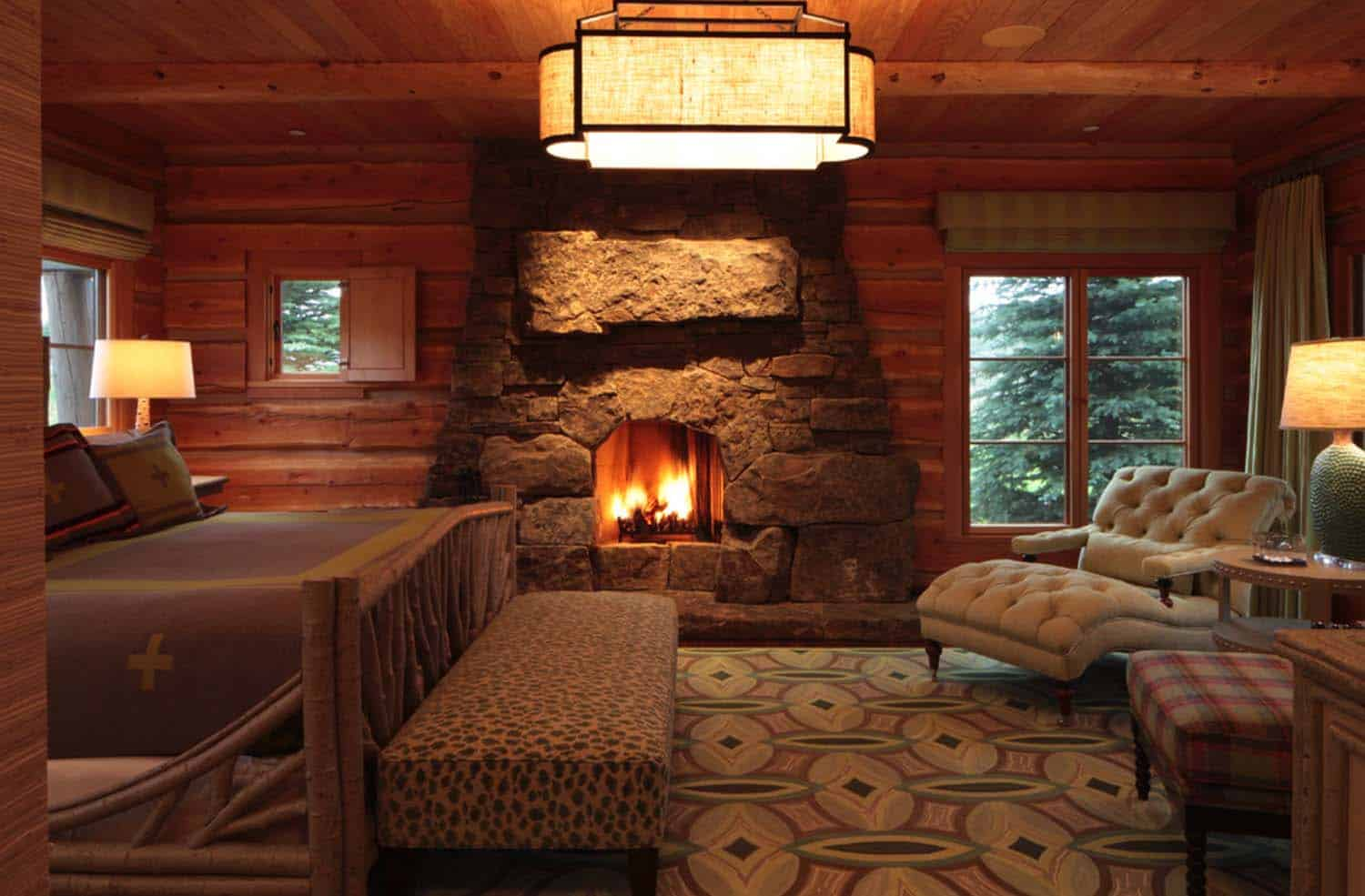 35 gorgeous log cabin style bedrooms to make you drool for One room log house