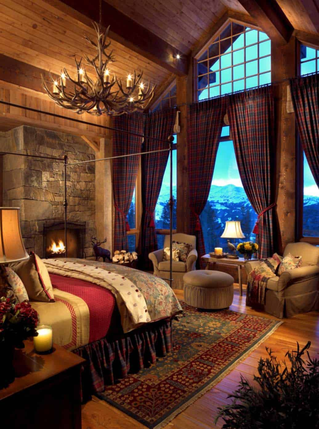 35 gorgeous log cabin style bedrooms to make you drool for Bedroom looks for 2016