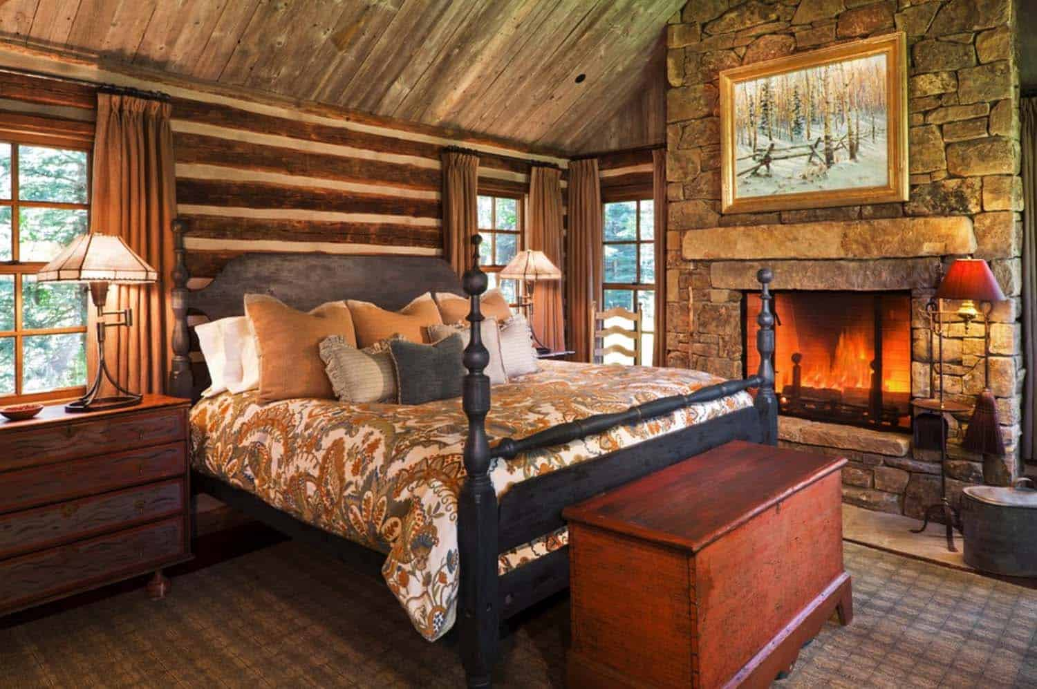 Good Log Cabin Style Bedrooms 17 1 Kindesign