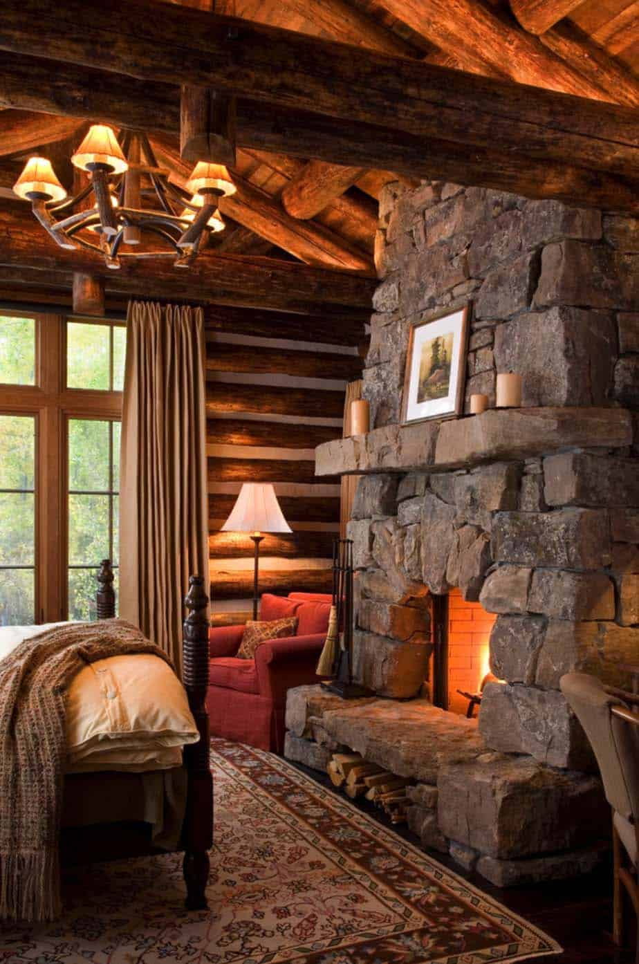 Log Cabin Style Bedrooms 21 1 Kindesign