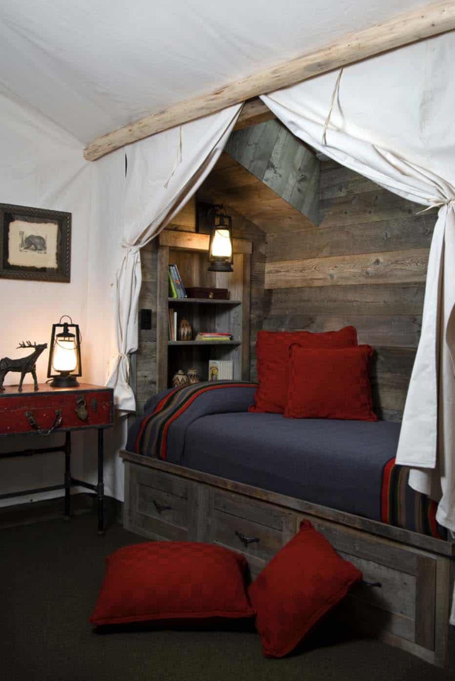 Tiny Home Designs: 35+ Gorgeous Log Cabin Style Bedrooms To Make You Drool