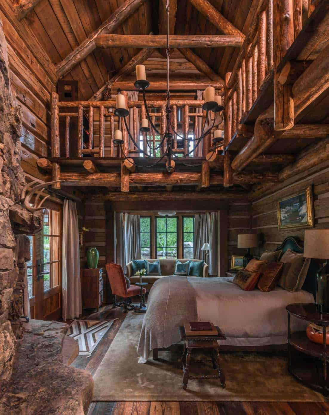 Log cabin style bedrooms 31 1 kindesign