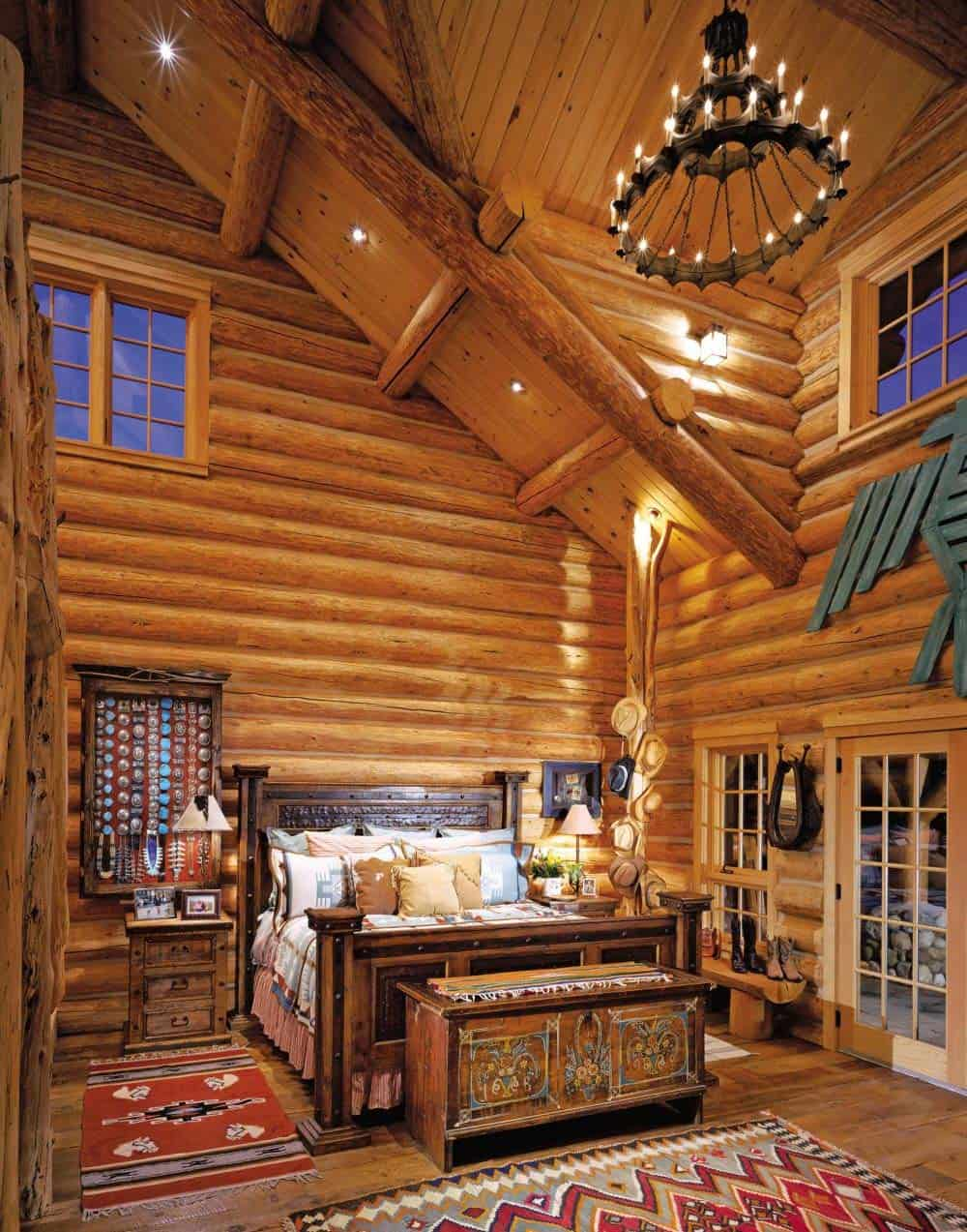 Log cabin style bedrooms 33 1 kindesign