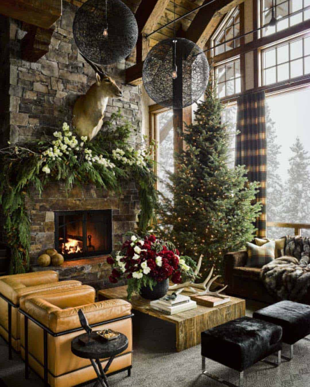Home Design Ideas For Christmas: Montana Guest Retreat Gets A Fabulous Makeover For The
