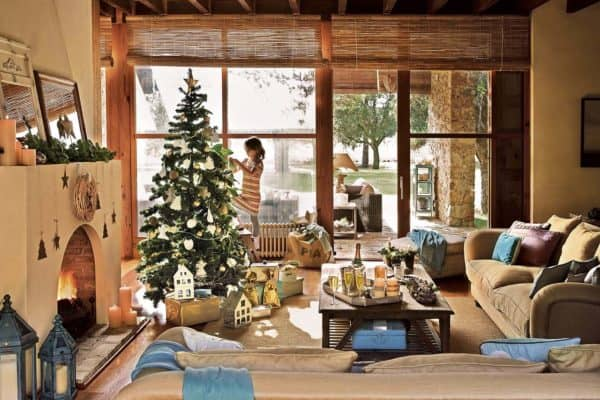 featured posts image for Spanish country house adorned with natural Christmas decorations