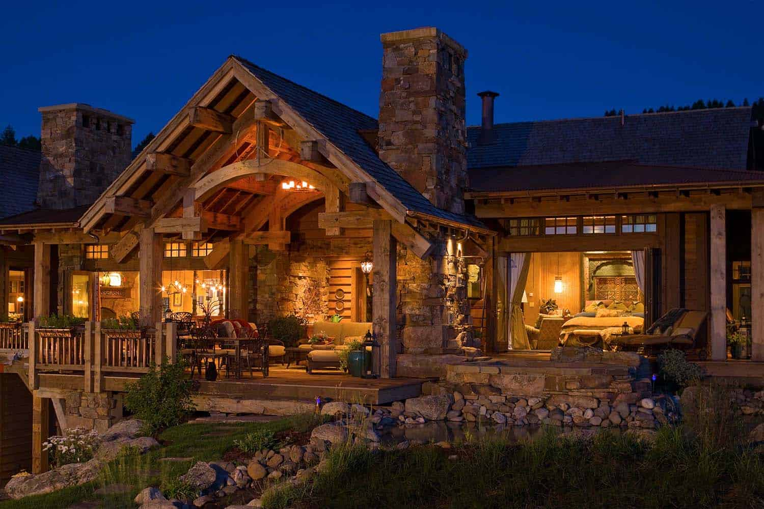 Breathtaking rustic retreat with postcard views of the for Mtn house
