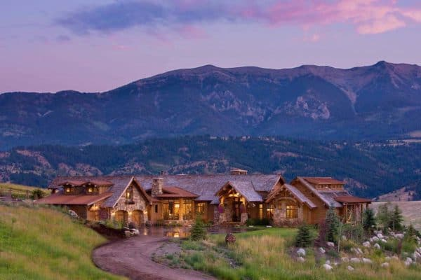 featured posts image for Breathtaking rustic retreat with postcard views of the Bridger Mountains