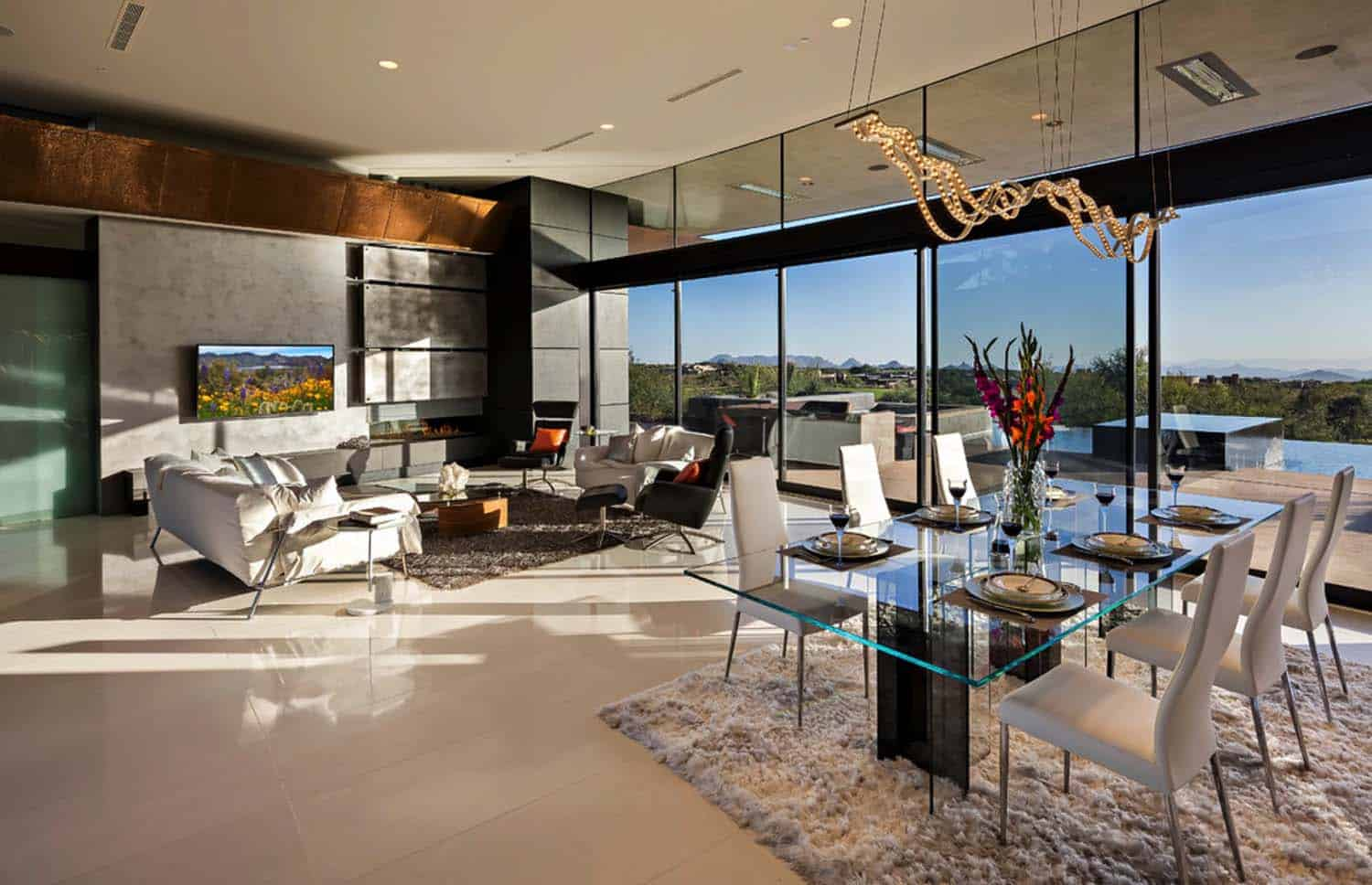 Dream home in the arizona desert merges indoor outdoor living for Cost to build a house in arizona