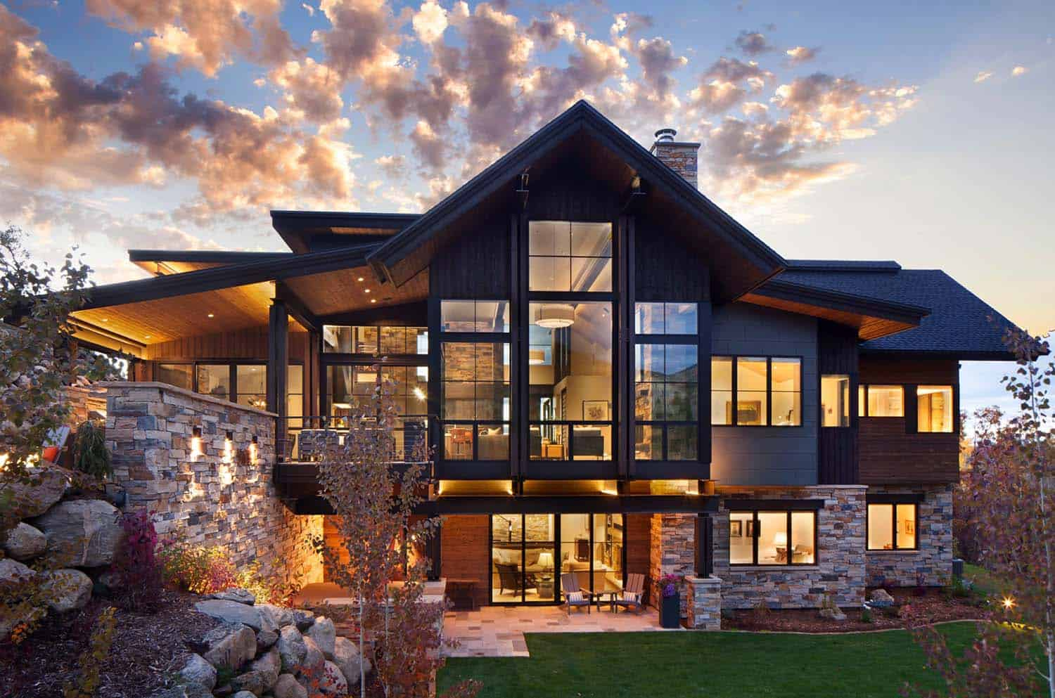 Breathtaking contemporary mountain home in steamboat springs for Contemporary home plans free