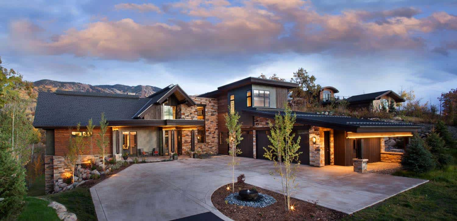 Breathtaking contemporary mountain home in steamboat springs for Contemporary home builders