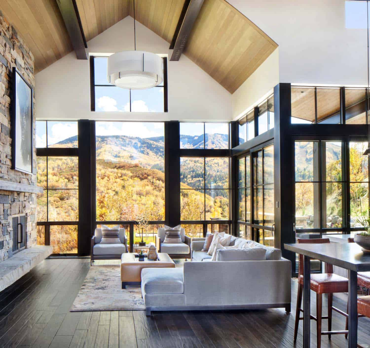 Houzify Home Design Ideas: Breathtaking Contemporary Mountain Home In Steamboat Springs