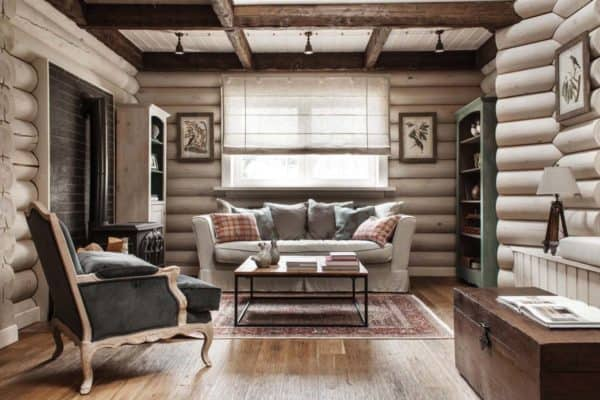 featured posts image for Rustic-chic log cabin style home in the countryside of Moscow