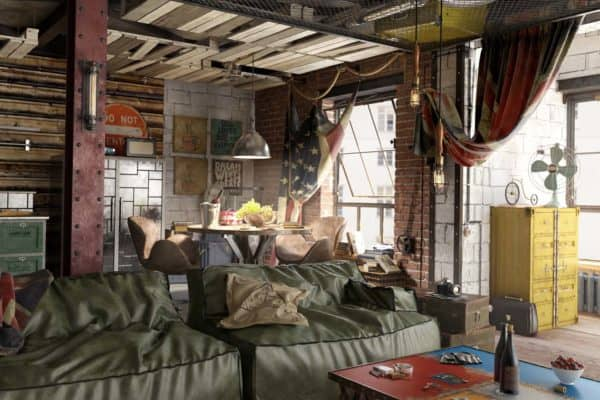 featured posts image for Bachelor's loft in Moscow features modern-vintage charm