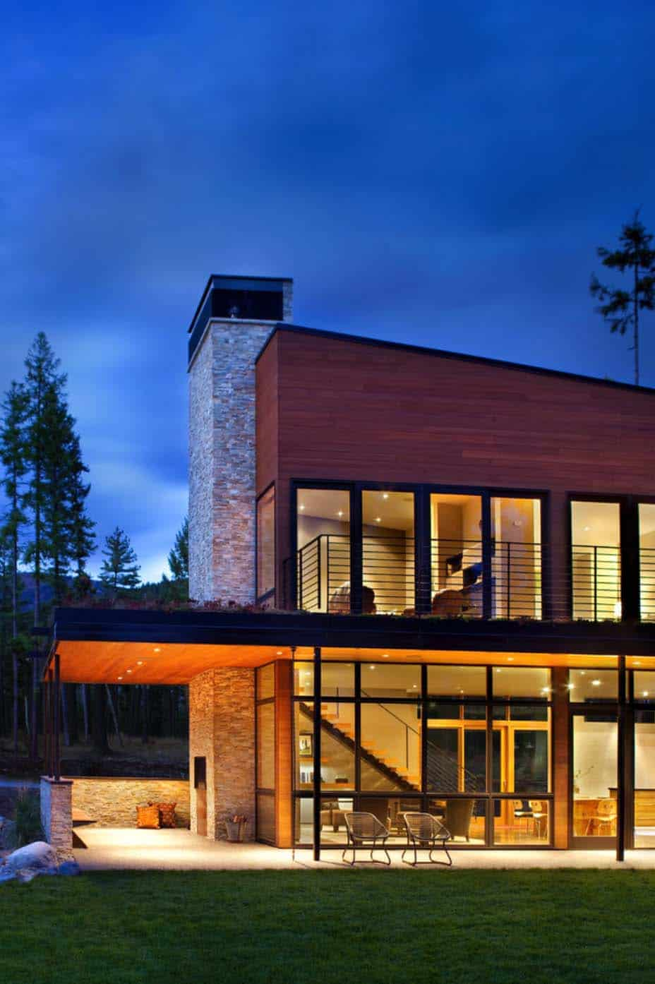 Mountain Architects Hendricks: Compact Mountain Home In Montana Boasts Sustainable Features