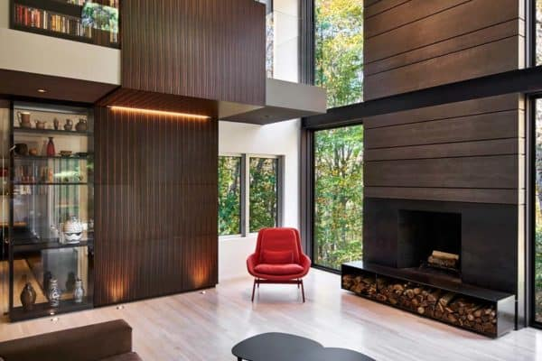featured posts image for A modern renovation in Maryland soaks in surrounding forested views