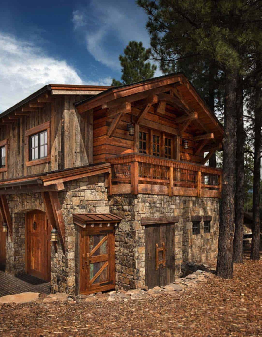 Mountain contemporary home surrounded by a ponderosa pine for Home by home