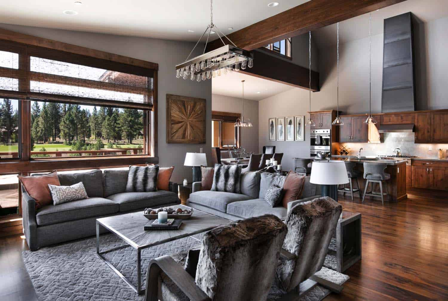 Warm and relaxing mountain contemporary home in truckee - Contemporary home interior design ...