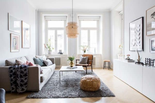 featured posts image for Bright and airy two-bedroom Scandinavian apartment interior