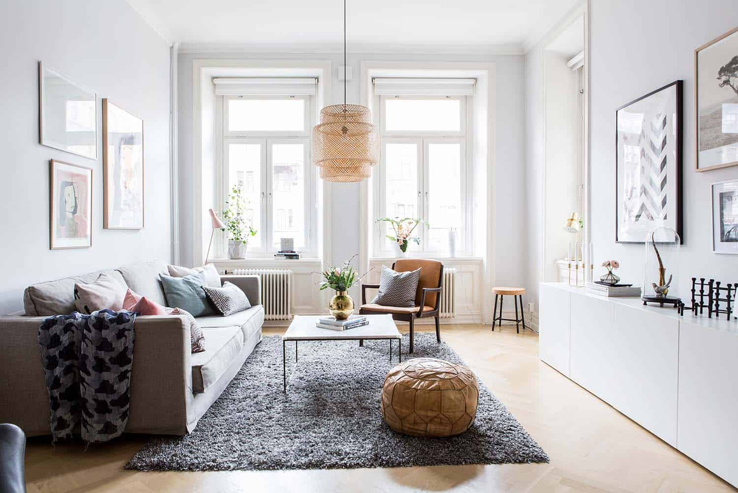 Bright Swedish Apartment With Delightful Interior Design Scheme