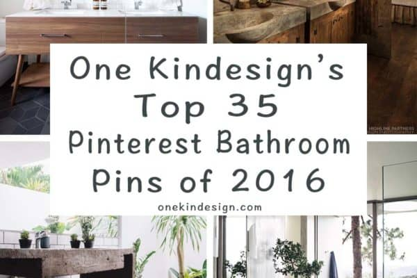 featured posts image for One Kindesign's top 35 Pinterest bathroom pins of 2016