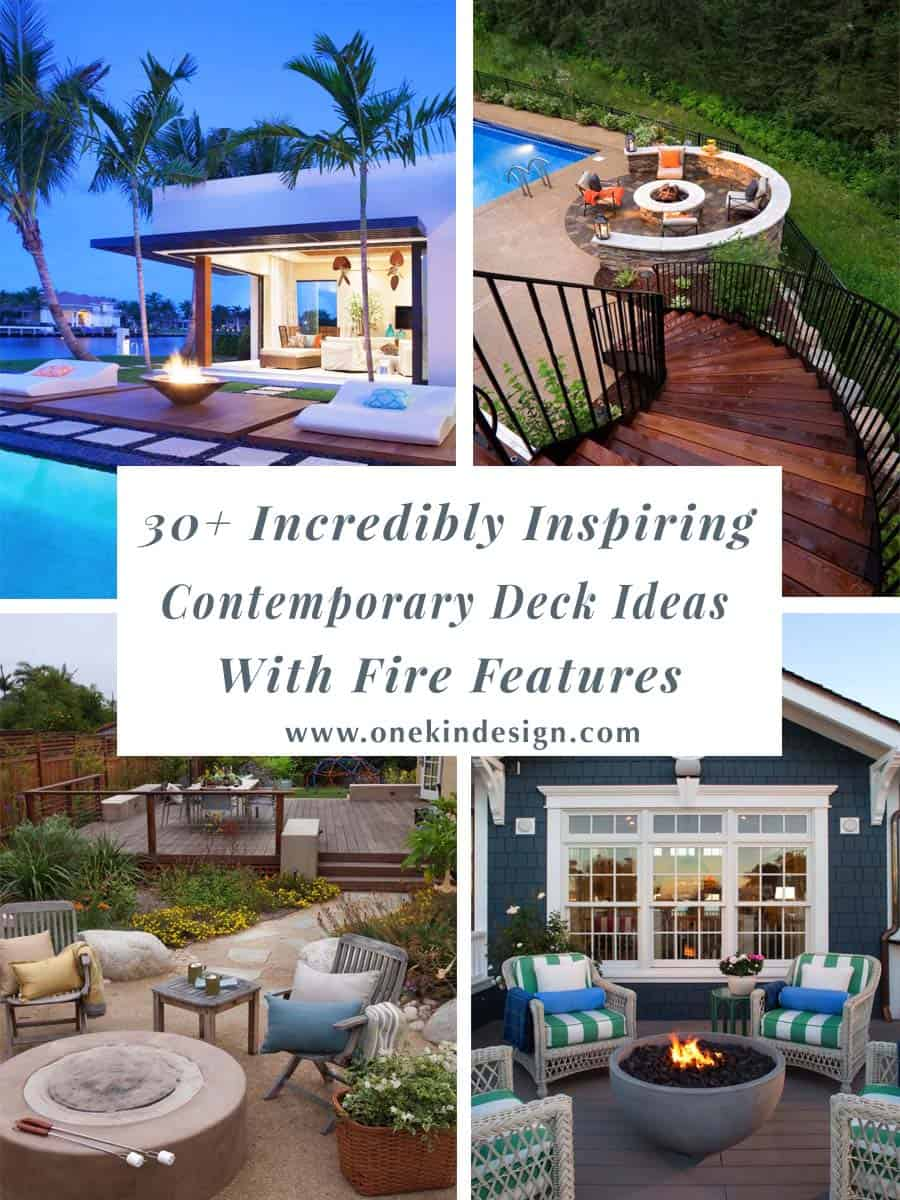 30+ Incredibly inspiring contemporary deck ideas with fire features