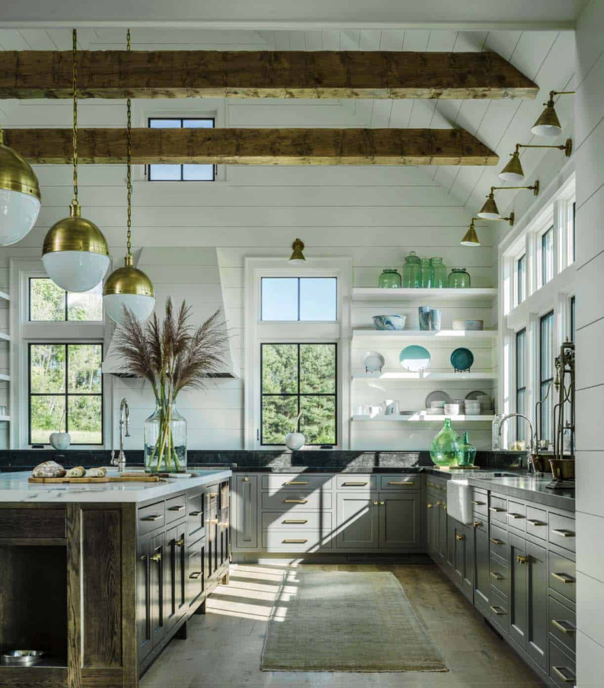 Amazing Kitchens Part - 43: 1. Traditional Farmhouse Style Dwelling In Vermont With A Modern Twist