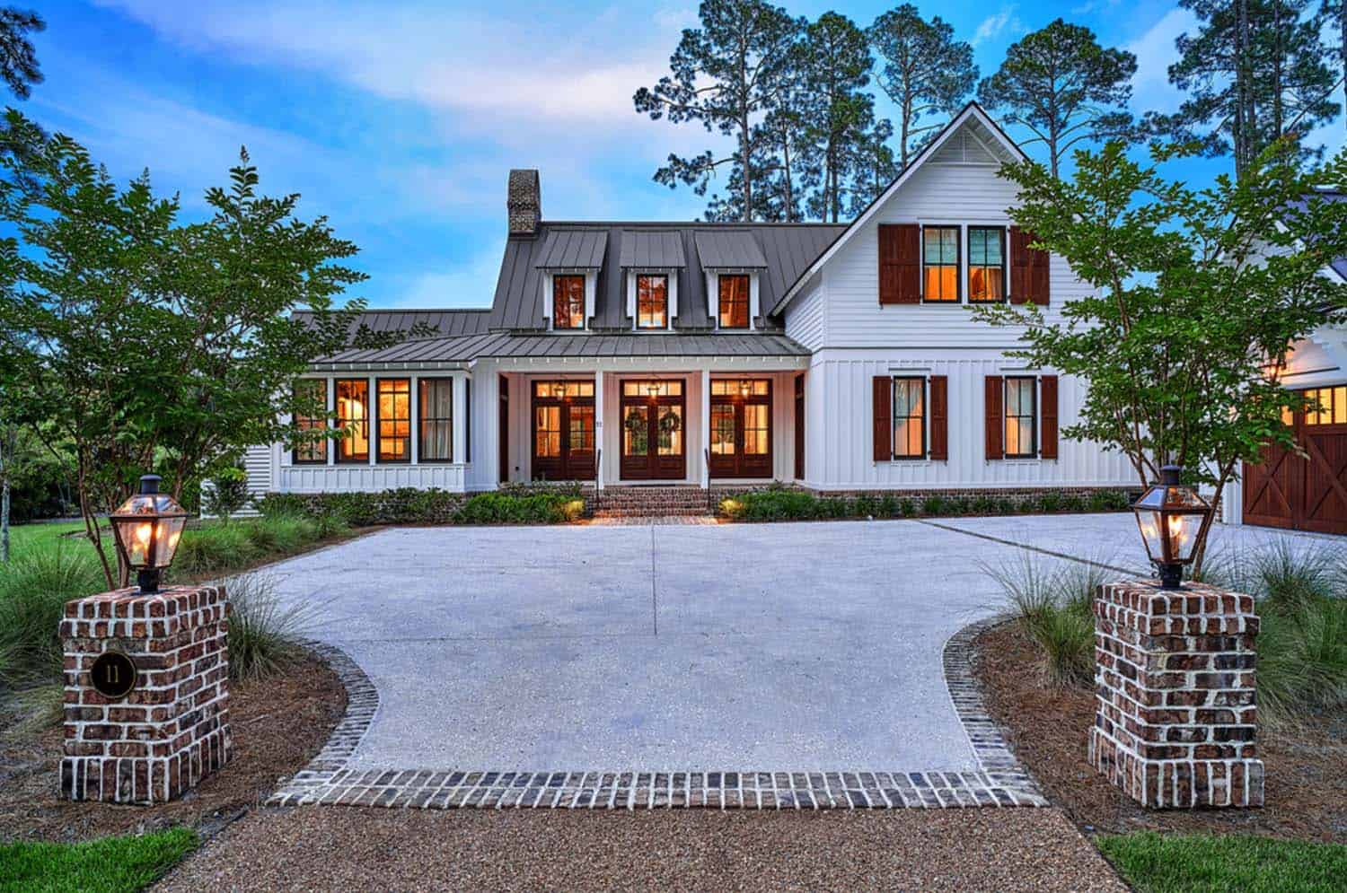 Exquisite south carolina farmhouse evoking a low country style for New farmhouse style homes